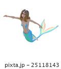 可愛いマーメイド(人魚)perming 3DCG イラスト素材 25118143