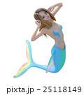 可愛いマーメイド(人魚)perming 3DCG イラスト素材 25118149