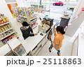 コンビニ コンビニエンスストア コンビニ店員の写真 25118863