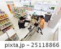 コンビニ コンビニエンスストア コンビニ店員の写真 25118866
