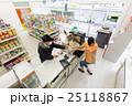 コンビニ コンビニエンスストア コンビニ店員の写真 25118867
