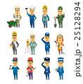 白バック ベクター 働く人々のイラスト 25128294