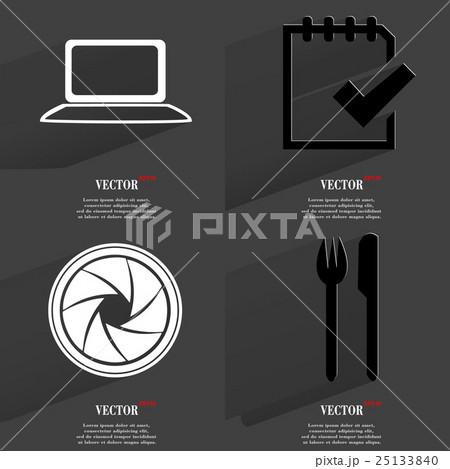 Set of fashionable icons, trending symbols. Flat dのイラスト素材 [25133840] - PIXTA