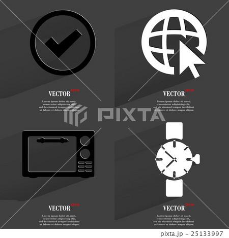 Set of fashionable icons, trending symbols. Flat dのイラスト素材 [25133997] - PIXTA
