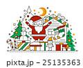 Merry Christmas - line design card 25135363