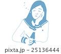 女子高生 女の子 中学生のイラスト 25136444