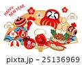 酉 鶏 年賀状のイラスト 25136969