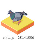 Isometric Pigeon on  the square ground2 25141550