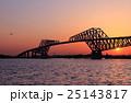 東京ゲートブリッジの夕景 25143817