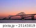 東京ゲートブリッジの夕景 25143819