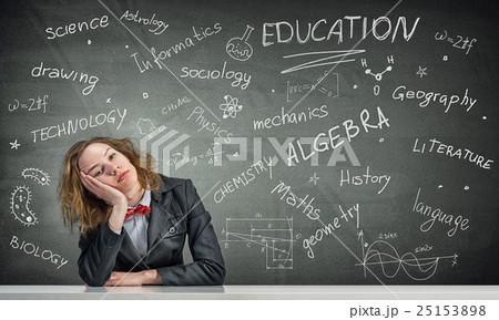 Sleeping woman in classroom 25153898
