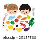 子供 食べ物 女の子のイラスト 25157568