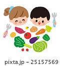 子供 食べ物 女の子のイラスト 25157569