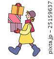 プレゼント 冬 女性のイラスト 25159637