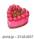 ベリー ケーキ ハートのイラスト 25161607