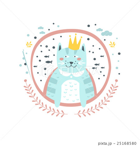 King Cat Fairy Tale Character Girly Sticker In 25168580
