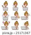 白衣の女性 PC セット 25171367