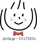 子供 笑顔 女の子 シンプルイラスト 25172631