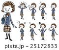 女子学生:セット 25172833