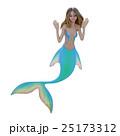 可愛いマーメイド(人魚)perming 3DCG イラスト素材 25173312