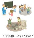 防災 備え 人物のイラスト 25173587