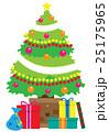 クリスマス クリスマスツリー プレゼントのイラスト 25175965
