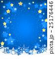 クリスマス フレーム 星空 雪の結晶 25176446