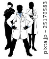 Medical Team Doctors and Nurses Group Silhouettes 25176583