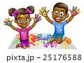 子供 キッズ 黒色のイラスト 25176588