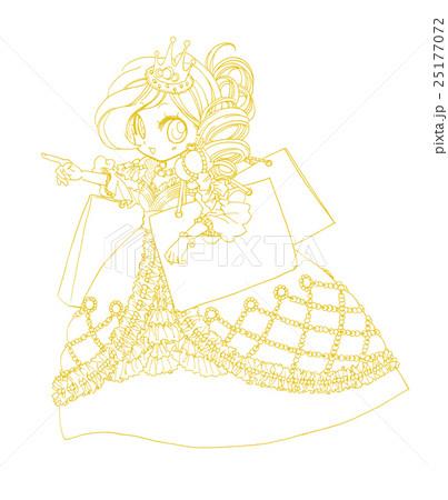 お姫様のイラストドレスショッパー02のイラスト素材 25177072 Pixta