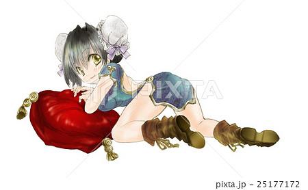 b2a8666d47e56 女の子のイラスト(チャイナドレス)アニメマンガ風01のイラスト素材 ...