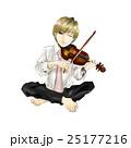 男性のイラスト(スーツ)バイオリン01 25177216