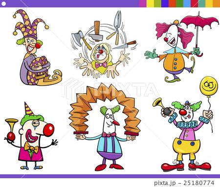 circus clown characters setのイラスト素材 25180774 pixta