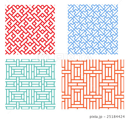 Seamless geometric puzzle pattern in asian styleのイラスト素材 [25184424] - PIXTA