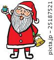 クリスマス サンタクロース 笑顔のイラスト 25187521