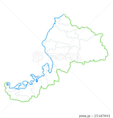 福井県地図 25187643