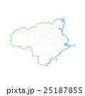 徳島県地図 25187855
