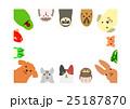 ペットのフレーム 長方形 25187870