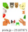 ペットのフレーム 正方形 25187871