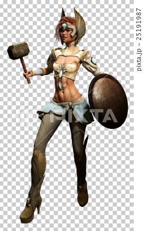 fantasy female warrior  25191987