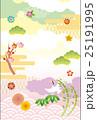 正月 新年 和柄のイラスト 25191995