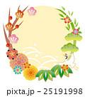 正月 和柄 松竹梅のイラスト 25191998