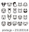 動物 アイコン 顔のイラスト 25193318