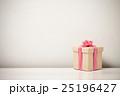 Border of gift box with pink ribbon row 25196427