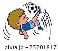 サッカーオーバーヘッドキック 25201817