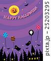 ハロウィン 背景 紫のイラスト 25203295