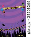 ハロウィン 背景 紫のイラスト 25203299