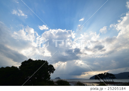 琵琶湖の夕景 25205184