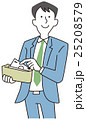 ビジネスマン 財布 お札のイラスト 25208579