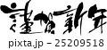 謹賀新年 ベクター 筆文字のイラスト 25209518